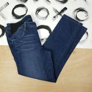 Paige Maternity Jeans Skyline Skinny Dark Blue